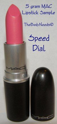 MAC Lip Stick Sample - Speed Dial - Light Blue Pink  thebodyneeds2.com  $3.79