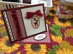 "**** Twisted Easel Card -- SU ""Joyous Celebrations"", 2012 Holiday Mini"