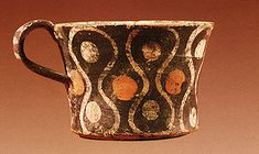 Cup with Kamares style decoration from Phaistos. 1800-1700 BC.