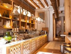 Barcelona - La Xocolateria  Breakfast Chocolate Cafe, Best   croissant in Spain