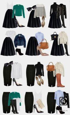Rock Your Senior Session Wardrobe Capsule Wardrobe Women, Capsule Outfits, Fashion Capsule, Mode Outfits, Chic Outfits, Fall Outfits, Classy Outfits, Fashion Terms, Work Fashion