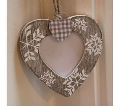 Wooden Heart Photo Frame Christmas Decoration