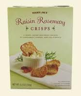 Trader Joe's Raisin Rosemary Crisps Crackers | Trader Joes easy, healthy, quick recipes for dinner, occasions, breakfast and lunch meal ideas
