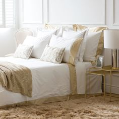 Contrasting Silk Percale Bed Linen