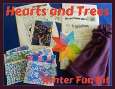 Hearts and Trees Winter Fun Kit: For Sale Now  Art, handicraft and nature study for your homeschool!