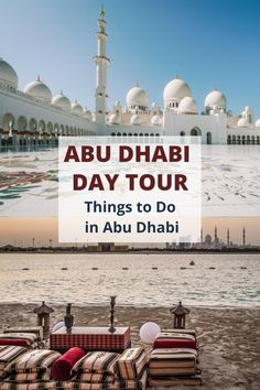 Abu Dhabi is another sparkling jewel in the Arabian desert. On my recent trip to the United Arab Emirates, we discovered the best things to do in Abu Dhabi in a day. From the Sheikh Zayed Grand Mosque to Yas Island and the excellent public beaches. Not bad for a country that isn't even 50 years old! I love the fact that all Abu Dhabi excursions take place in a modern, safe and clean environment. Read all about my experiences in this ultimate guide of things to do in Abu Dhabi in a day. Travel Advice, Travel Ideas, Travel Inspiration, Travel Tips, Beautiful Places To Travel, Best Places To Travel, Dubai Travel, Luxury Travel, Travel Abroad
