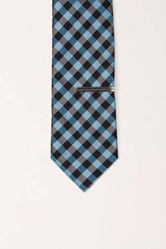 Bibas Check Slim Tie With Tie Bar Sharp Dressed Man f1e36022c