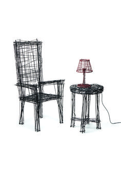 Korean designer Jinil Park created a set of wire art furniture pieces that look like rough, two-dimensional sketches. Art Furniture, Drawing Furniture, Furniture Design, Steel Furniture, 3d Sketch, Sketch Drawing, Parking Design, Dezeen, Line Drawing