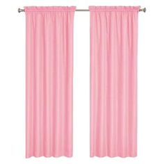 Wave Blackout Pink Polyester Curtain Panel, 84 in. Length (Price Varies by Size)