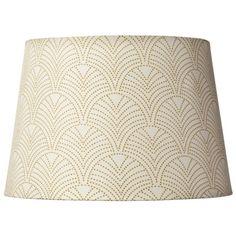 $16 Gold Printed Leaf Lamp Shade
