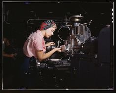 Where can I get this head wrap? | 19 Amazing Photos Of Female Riveters During WWII