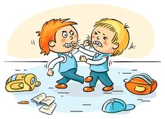 Be specific and tell your child why is it bad to hurt people. Just make sure you keep the explanations short and simple. School Items, Spanish Teacher, School Boy, Photoshop Design, Kids Cards, Illustrations, Parenting Hacks, Bullying, Art For Kids