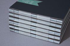 nice hand bind portfolio book - by Katharina Seiler, via Behance