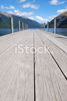 Jetty, Lake Rotoiti, Nelson Lakes National Park, NZ Royalty Free Stock Photo
