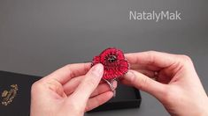 DIY embroidery brooch poppy Embroidery Jewelry, Modern Embroidery, Beaded Embroidery, Hand Embroidery, Diy Jewelry Kit, Handmade Jewelry, Poppy Brooches, Poppies, Jewellery