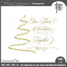 Sold By business commercial useAvailable in SVG, DXF, EPS and PNG formats.Works in Cricut Designs space andSilhouette Studio Basic,Silhouette Designer Edition andSilhouette Business Edition Lettering Design, Hand Lettering, Silhouette Machine, Silhouette Designer Edition, Vinyl Designs, First Christmas, Cricut Design, Design Bundles, Ornaments Ideas