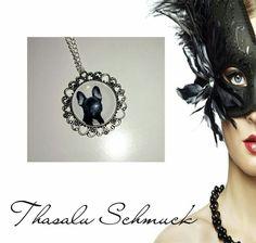 Medallion mit Fotoglaseinfassung zu finden bei Thasalu Schmuck bei Facebook