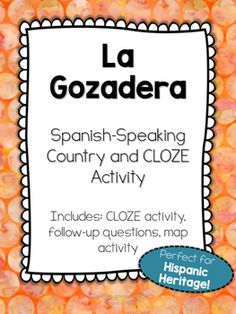 """""""La Gozadera"""" Song activity with questions and map activity"""