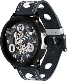 SevenFriday Watch Bully D Black and White Watch available to buy online from with free UK delivery. Brm Watches, Sport Watches, Cool Watches, Watches For Men, Patek Philippe, Tag Heuer, Omega Speedmaster Moonwatch, Porsche 991, Harry Winston