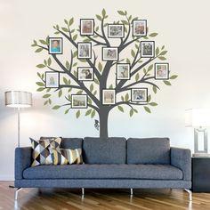 Wohnzimmer wanddeko  wandtattoos baum zweige wohnideen wohnzimmer wanddeko | Pinterest