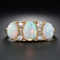 Victorian Opal and Diamond Ring by shawna