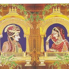 Indian Wedding Invitation Cards, Favour boxes, RSVP Cards and all stationary related to your wedding. Mughal Paintings, Indian Paintings, Art Paintings, Indian Wedding Invitation Cards, Card Box Wedding, Wedding Card Design Indian, Rajasthani Painting, Wedding Painting, Lord Shiva Painting