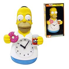 Homer Simpson Motion Wall Clock The Simpsons Moveable Doughnut Duff Beer Homer Simpson, Duff Beer, Moving Eyes, Pendulum Clock, Cool Clocks, The Duff, Rubber Duck, 5 D, Gifts For Kids