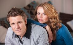James Cracknell and his wife Beverley Turner. Met them at London Triathlon - lovely couple and Beverley was the friendliest person there.  They have written a searingly honest account of the impact his devastating brain injury and personality change have had on family life