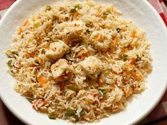 Paneer Fried Rice Recipe with step by step photos. Indian inspired recipe of a mildly spiced paneer fried rice with mixed veggies. instead of paneer you can also use tofu. Cooked Rice Recipes, Leftover Rice Recipes, How To Make Paneer, Good Food, Yummy Food, Recipe Collection, Fried Rice, Tofu, Fries