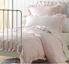 shabby pink linen rag u0026 ruffles king bed doona duvet quilt cover pillow set chic in home u0026 garden bedding quilt covers