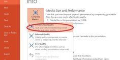 Saving Presentation Slide Files In Small Size