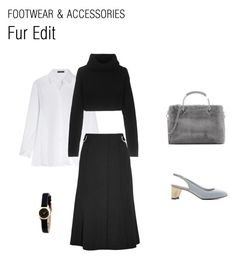 """""""Fur Edit"""" by charlesandkeith ❤ liked on Polyvore featuring The Row, CHARLES & KEITH, Valentino, Proenza Schouler and Marc by Marc Jacobs"""