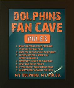 miami dolphins man cave - Google Search
