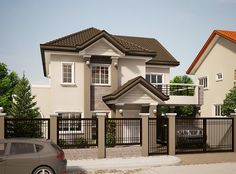 MHD-2012005 is an elegant and outstanding modern house design combining the following architectural features: concrete or metal tiled roofing, powder....