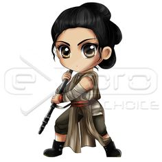 Rey Chibi Star Wars: The Force Awakens Exoro Choice's Chibis – Rey was a human female scavenger who discovered her latent Force-sensitivity during the conflict between the First Order and the Resistance. She was left by her family on the desert planet Jakku as a child, and she spent years dreaming of the day that her loved ones would return for her. #chibi #cute #exoroshop #drawing #Rey #Starwars #StarwarsForceAwakens #ReyChibi