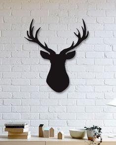 Geyik Metal Plaka - Deer