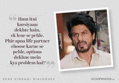 8 Heartwarming Lines From 'Dear Zindagi' To Help You Love Yourself & Your Zindagi Movie Quotes, Book Quotes, Words Quotes, Life Quotes, Hindi Quotes, Qoutes, Lyric Quotes, Truth Quotes, Heart Quotes