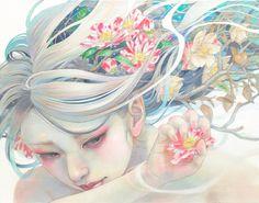 Miho Hirano is a Japanese artist living in Abiko, Chiba. Miho Hirano graduated from Musashino Art University. Her fantasy Perhaps a sense of the unique Art And Illustration, Fantasy Kunst, Fantasy Art, Portrait Male, Art Asiatique, Art Japonais, Fantasy Paintings, Oil Paintings, Japanese Artists