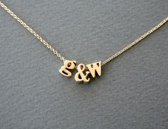 Gold Initials Letter Necklace - Delicate Personalized Jewelry Lower Case Initial Necklace