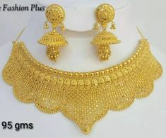 Black And Gold Jewelry Silver Bridal Jewellery, Gold Jewellery Design, Gold Jewelry, Sheik, Gold Jhumka Earrings, Gold Choker, Gold Necklace, Gold Ring Designs, Lahenga