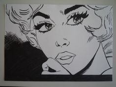 Here some of my own art. Just edding on thick paper. #popart #b&w…