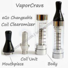 Keterangan : Pipa Elektrik Hisap Vaporcrave Ego CE4 Clearomizers ini adalah Pipa Elektrik Hisap yang bisa dan biasa dipergunakan pada Rokok Elektrik/ E-Cigarette Ego. Ukurannya 70mm X 14mm, Berat u...