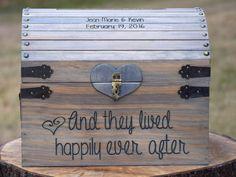 Rustic Wooden Card Box  Rustic Wedding Decor  by CountryBarnBabe
