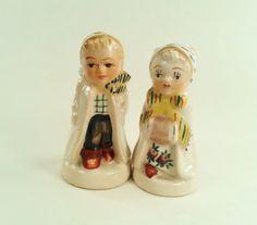 Vintage Salt and Pepper Shakers Bride and Groom