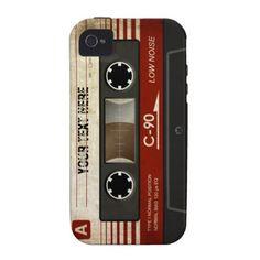 Retro Compact Audio Cassette Case Case For The iPhone 4