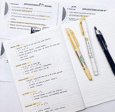 Pinterest// Ijackson666 // Beautiful Notes, Pretty Notes, Good Notes, School Motivation, Study Motivation, Keep Calm And Study, Neat Handwriting, Study Organization, Study Journal