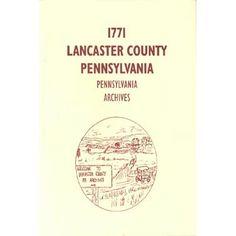 1771 Lancaster County, Pennsylvania, Archives