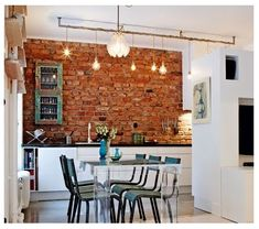 223 Best Brick Wall Dining Room Images Modern Dining Dining Room Design Home