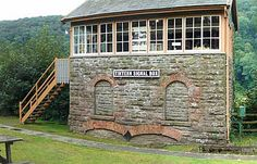 Tintern station, Wye Valley branch line (Closed) Monmouthshire, Wales (Park now)