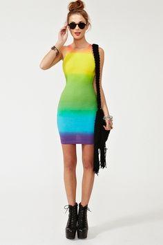Zena Dress - Rainbow